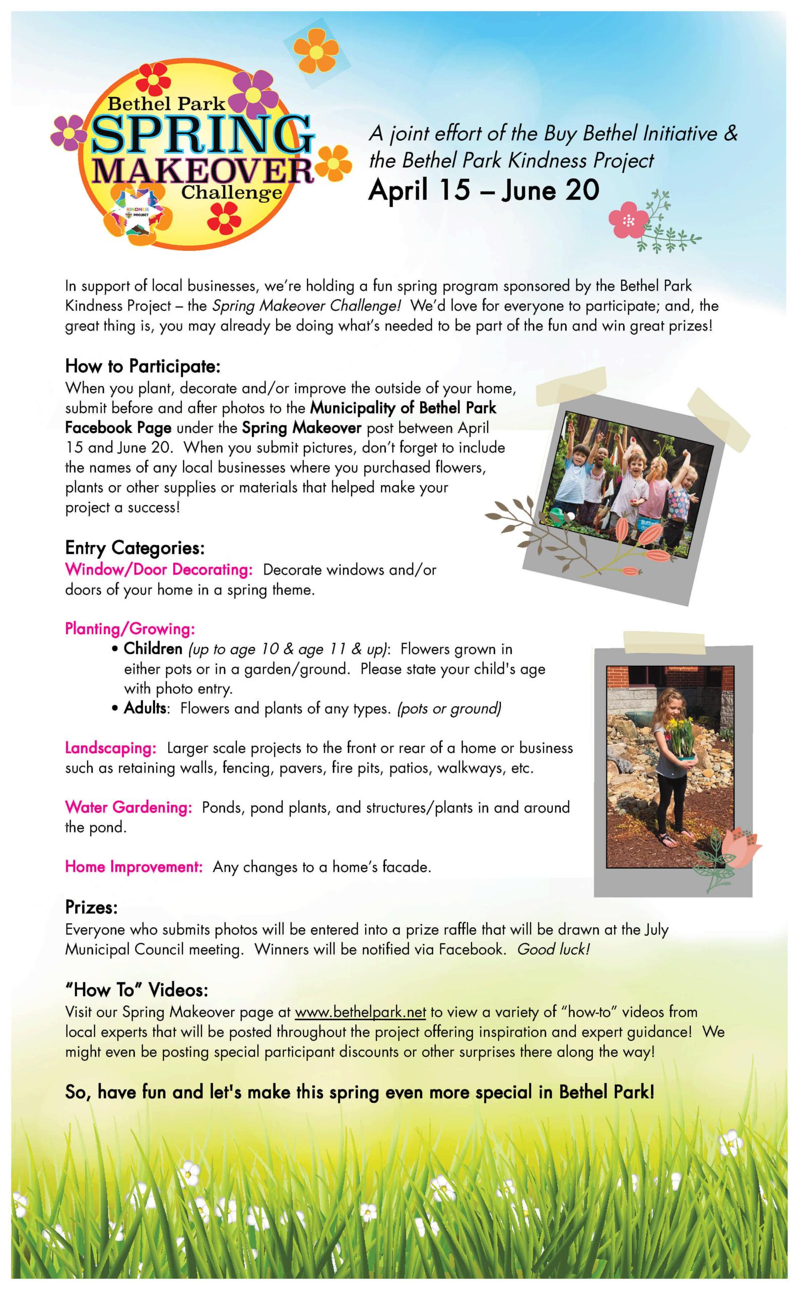 Spring Makeover Challenge Poster