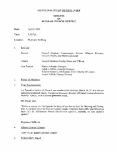 Icon of Regular Council Meeting Minutes 4-9-18