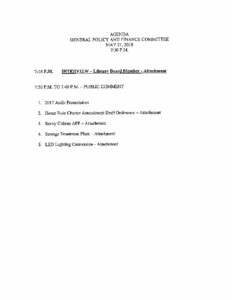 Icon of May Committee Agendas
