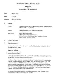 Icon of Regular Council Meeting Minutes 5-14-18