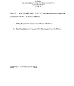 Icon of Committee Meeting Agendas