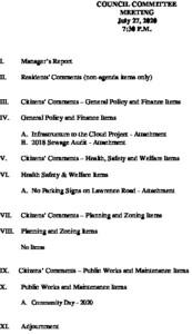 7-27-20 Agenda