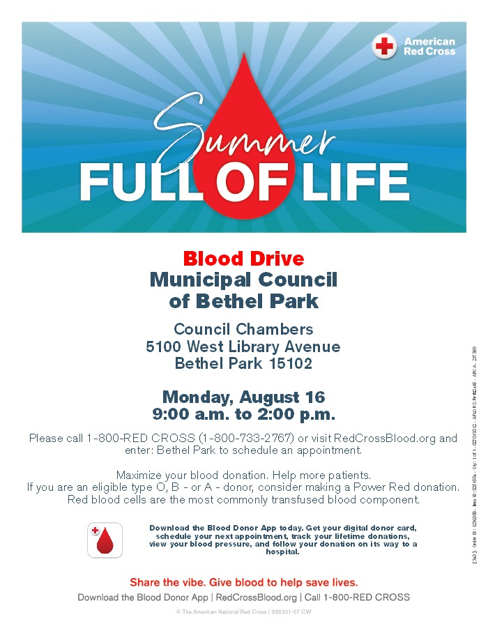 Blood Drive - August 16th