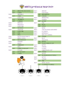 North Halloween Parade Route
