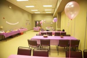 Room C, birthday set-up