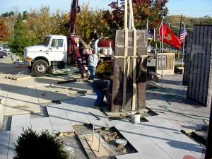 Veterans Memorial construction