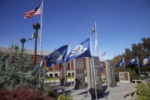 Veterans Memorial flags