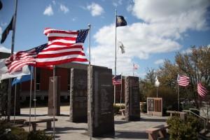 Veterans Memorial spring