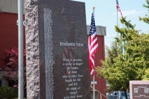 Veterans Memorial stone