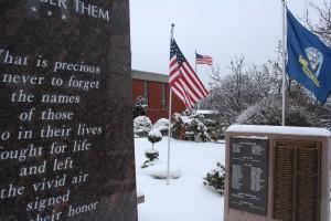 Veterans Memorial winter